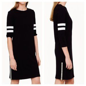 J. Crew Side Zip Black Varsity Dress
